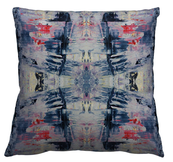 Storm Blue Red Pillow Cover