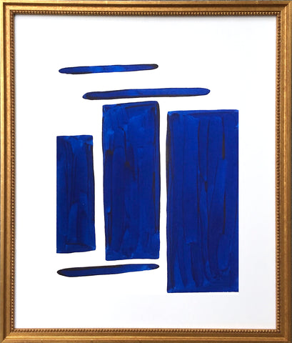 Blue and White Shape Series II