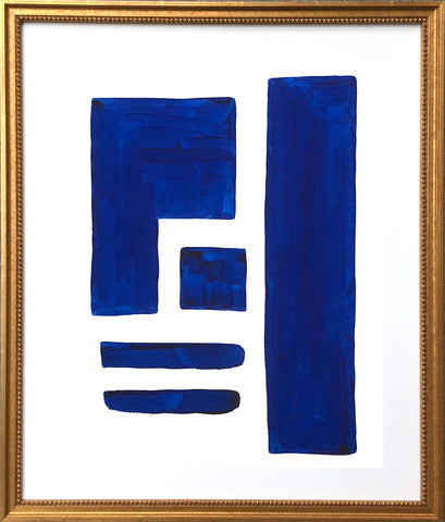 Blue and White Shape Series I