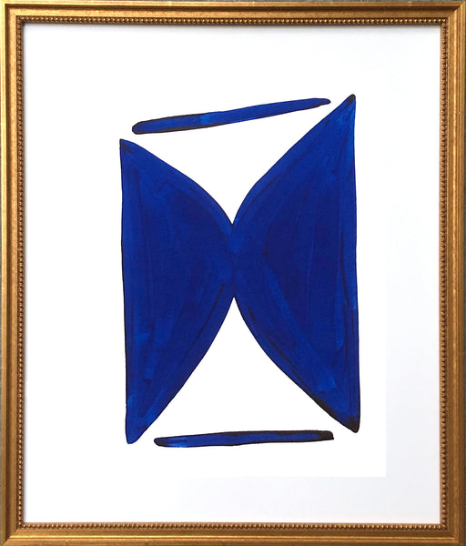 Blue and White Shape Series V