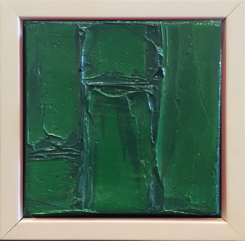 Emerald White Framed Mini