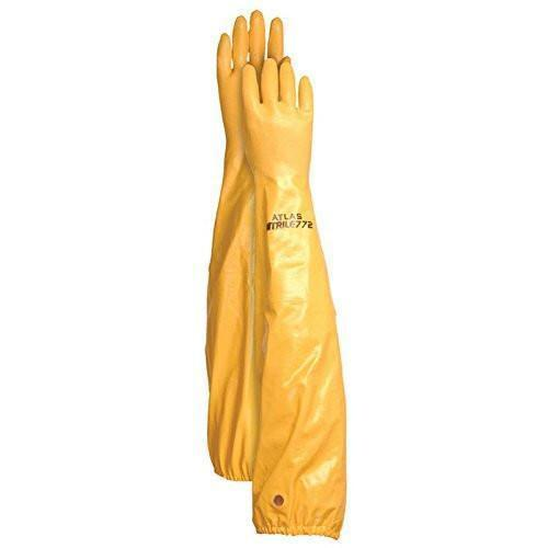 Atlas Glove Gloves Showa Glove WG772 26-Inch Long Sleeve Nitrile Coated Cotton Lined Work Gloves