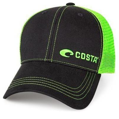 Costa Apparel Costa NEON TRUCKER Offset Logo Graphite HAT