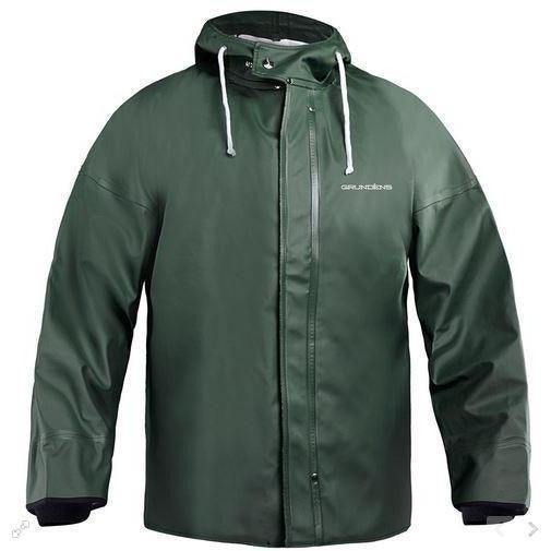Grundens Brigg 44 Commerical Fishing Parka with Neoprene Cuffs-Green