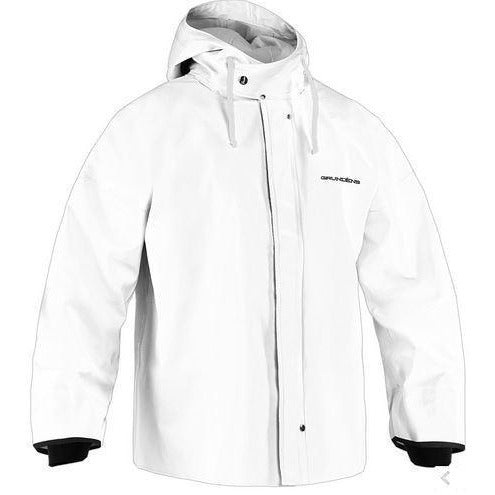Grundens Brigg 44 Commerical Fishing Parka with Neoprene Cuffs-White
