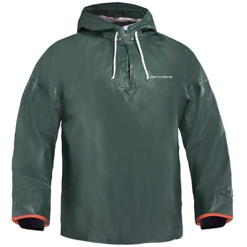 Grundens Brigg 34 Commercial Fishing Anorak Pullover -Green