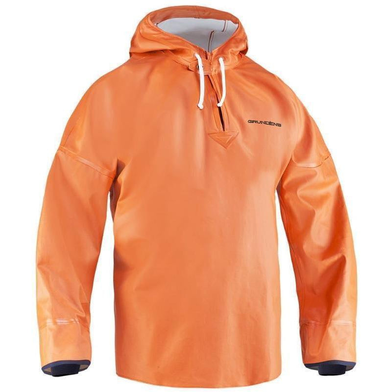 Grundens Brigg 34 Commercial Fishing Anorak Pullover - Orange