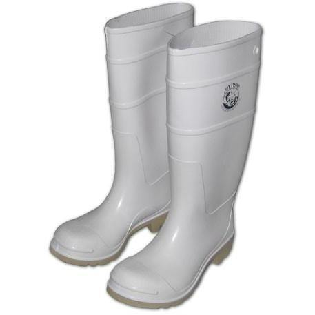 Joy Fish Commercial Grade Foul Weather Boots-White color made in USA