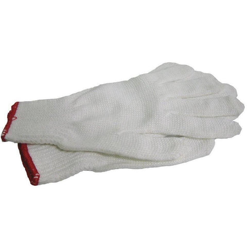 Gloves - White Nylon/Polyester Glove
