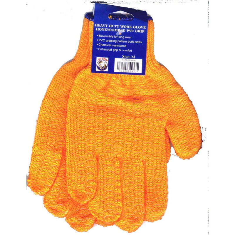 Joy Fish Apparel Gloves - Orange Vinyl Coated Gloves