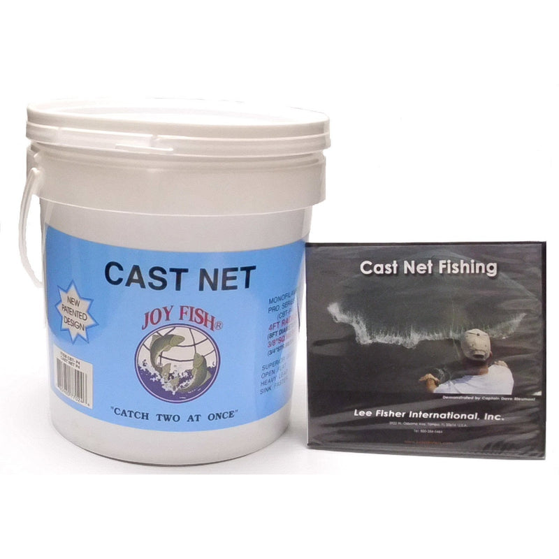 "Joy Fish Cast Nets Joy Fish Bait Cast Net (3/8"" Sq. Mesh)"