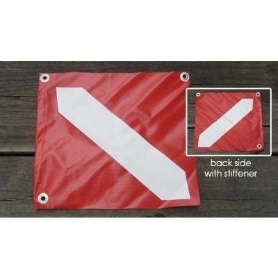 "Joy Fish Diver Flag-14""x16"" small vinyl"