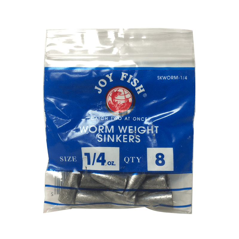 Joy Fish Weights & Sinkers Joy Fish Worm Weight Sinkers - Sold by Single Pack