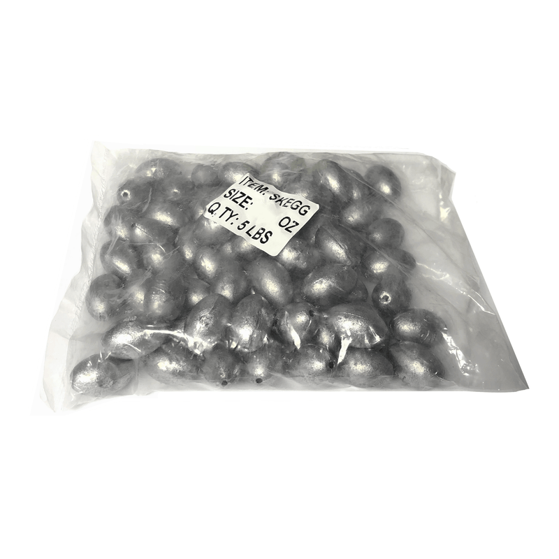 Joy Fish Weights & Sinkers Joy Fish Egg Sinkers - 5 LB Bulk Package