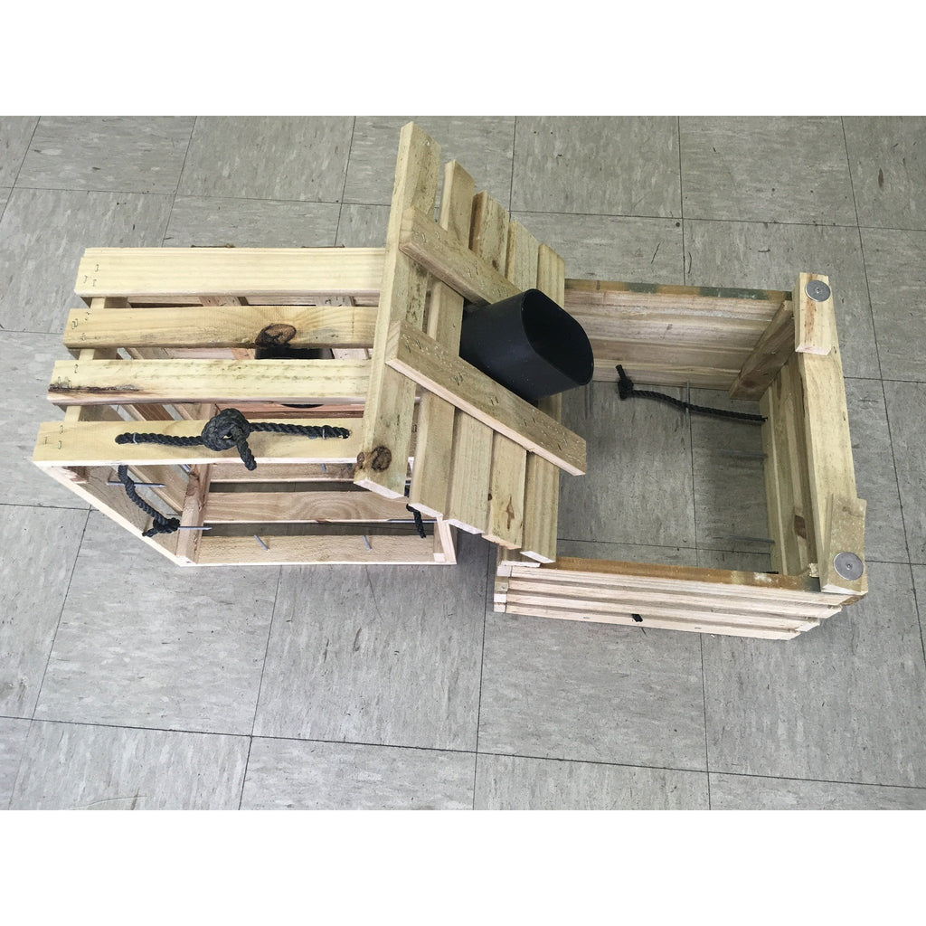 Wooden Stone Crab Trap Assembled