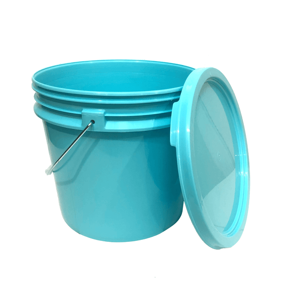 Lee Fisher Sports Bucket Lee Fisher Sports Bucket - 3.5 Gallon Bucket Metal Handle with Lid, Aqua