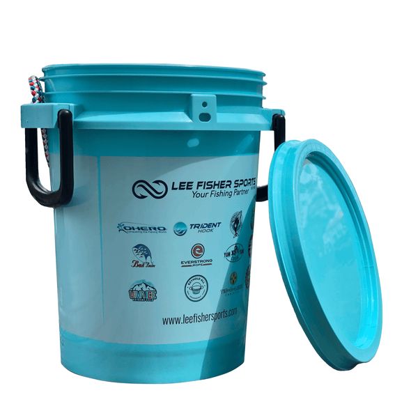 Lee Fisher Sports Bucket Lee Fisher Sports Bucket - 5 Gallon iSmart Bucket With Rope Handle and Logo Printed