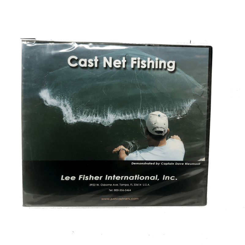 Lee Fisher Sports Fishing Accessories Cast Net Fishing DVD
