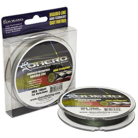 Ohero Lines & Leaders Ohero Advanced Microfiber Braided Fishing Lines 150lb
