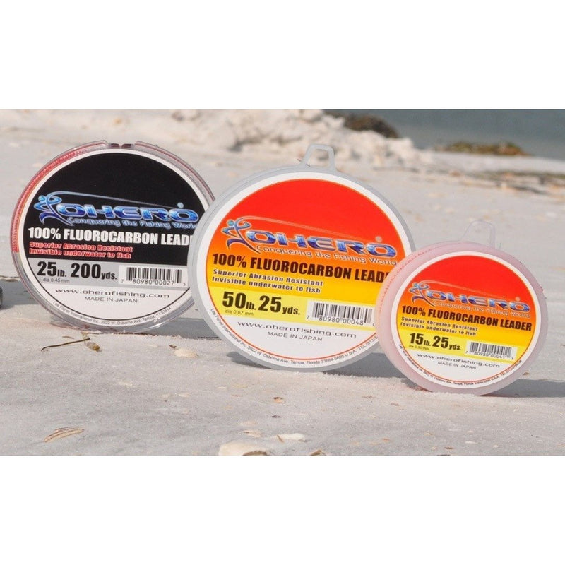 Ohero Lines & Leaders Ohero 100% Fluorocarbon Leader 15 Yard Spool