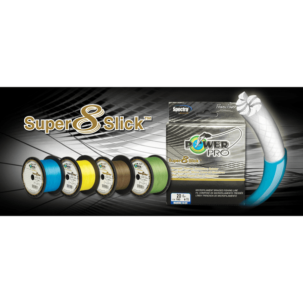 PowerPro Lines & Leaders PowerPro SUPER 8 SLICK Braided Line