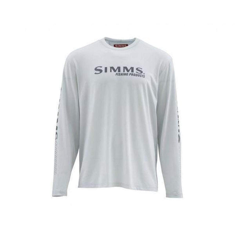 Simms Apparel Simms Men's Tech Tee Long Sleeve, Color: Tundra, Size: XL