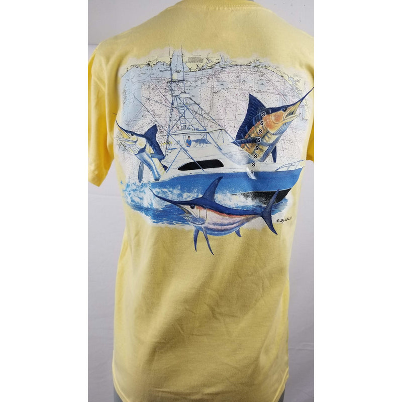 Steve Whitlock Apparel Steve Whitlock Signature Men's AL Flag Gulf Slam SS Shirts