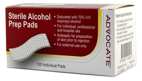 Advocate Sterile Alcohol Prep Pads - CSA Medical Supply