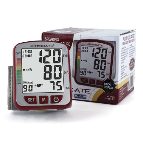 Advocate Speaking Wrist Blood Pressure Monitor - CSA Medical Supply