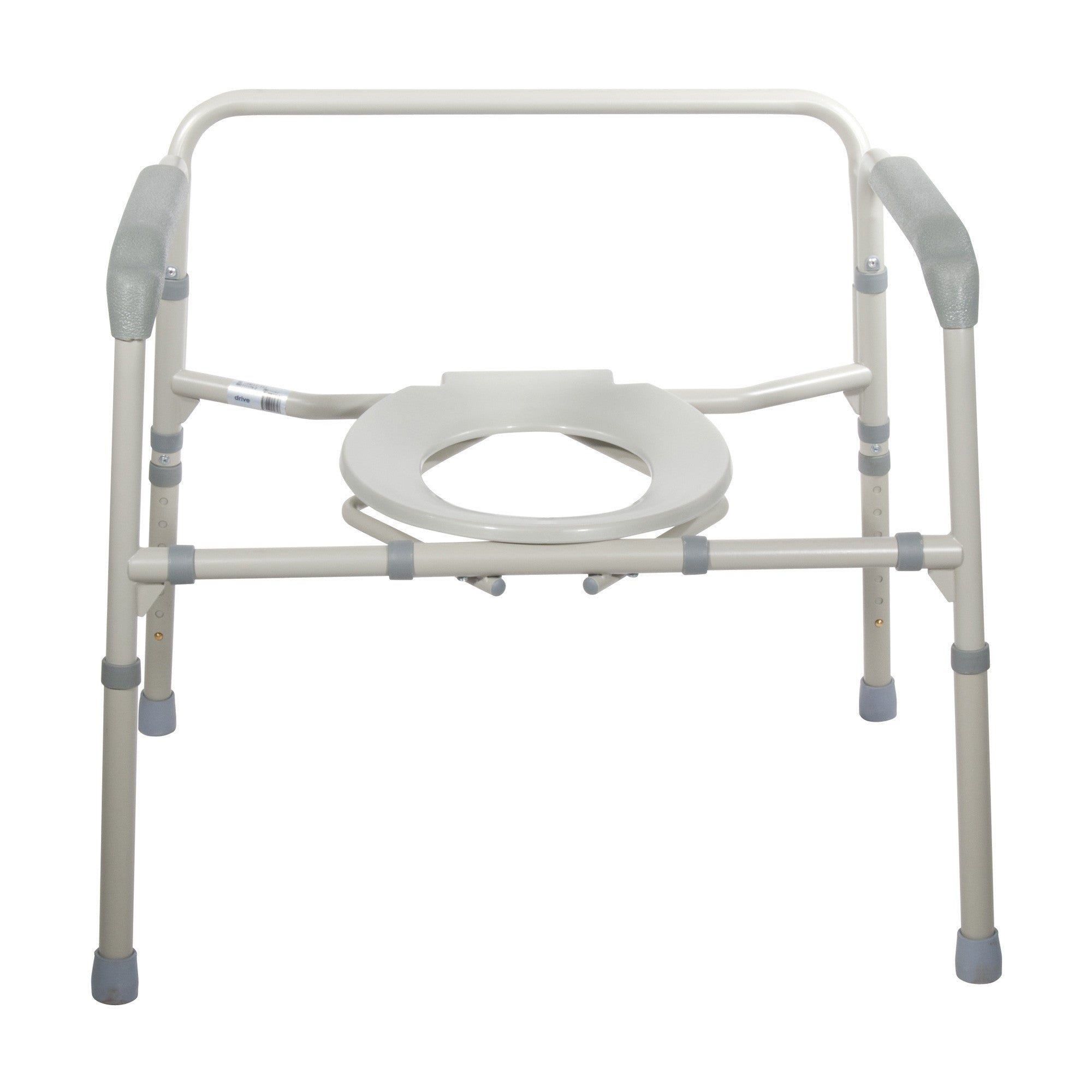 Portable commode folding bedside handicap adult toilet potty chair - Heavy Duty Bariatric Folding Bedside Commode Chair