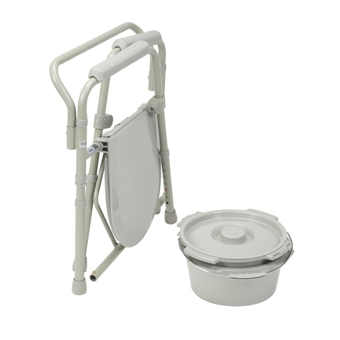 Steel Folding Bedside Commode - CSA Medical Supply