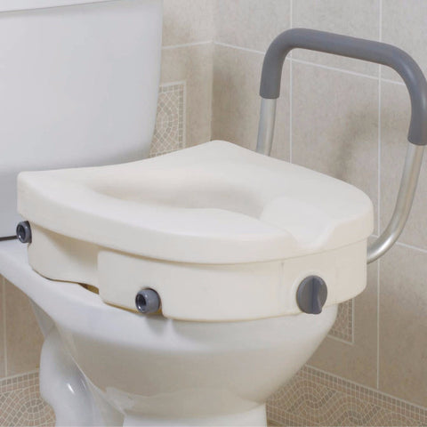 Drive Medical 2-in-1 Locking Raised Toilet Seat
