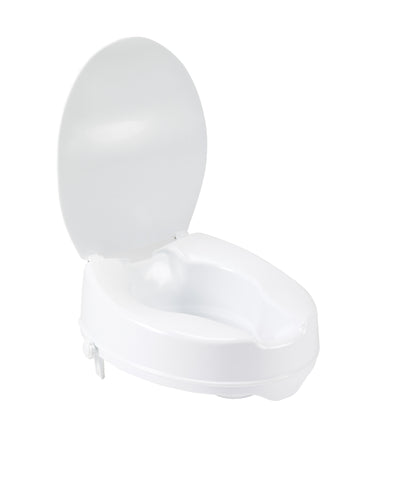 Raised Toilet Seat with Lock and Lid by Drive Medical