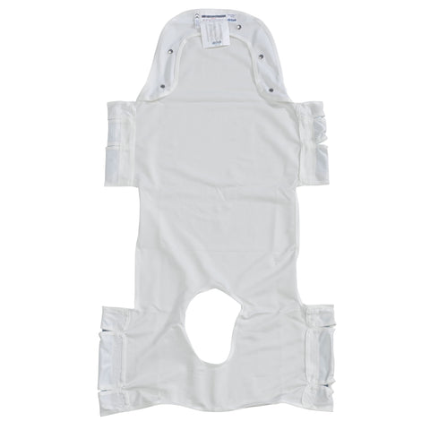 Patient Lift Sling with Head Support and Insert Pocket with Commode Opening - CSA Medical Supply