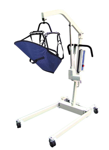 Bariatric Electric Patient Lift with Rechargeable Battery and Four Point Cradle