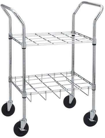 Drive Medical Chrome Oxygen Cylinder Cart - CSA Medical Supply