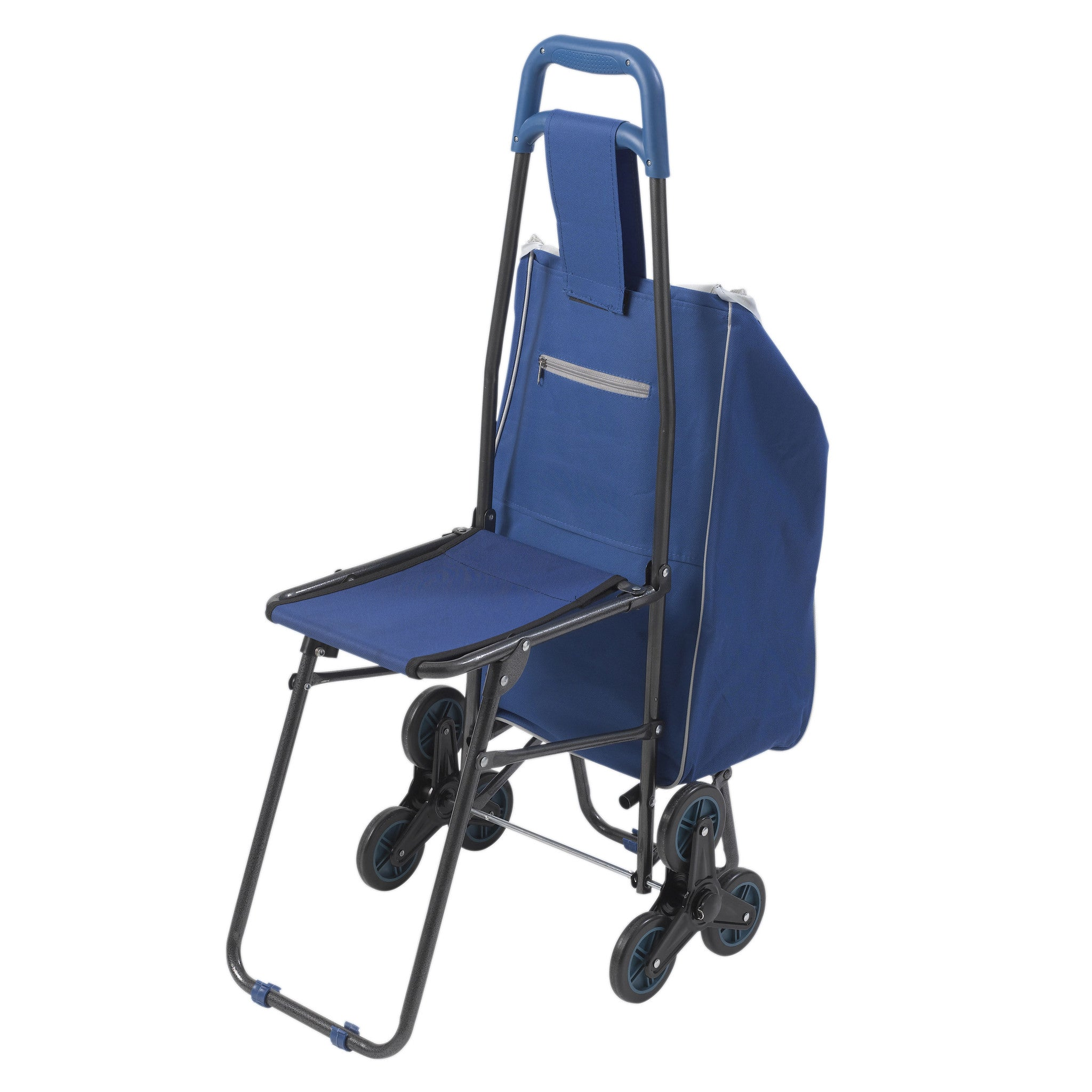 Deluxe Rolling Shopping Cart with Seat | CSA Medical Supply