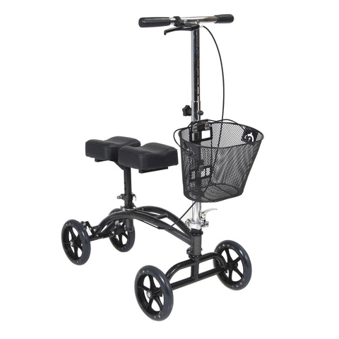 Dual Pad Steerable Knee Walker with Basket by Drive Medical