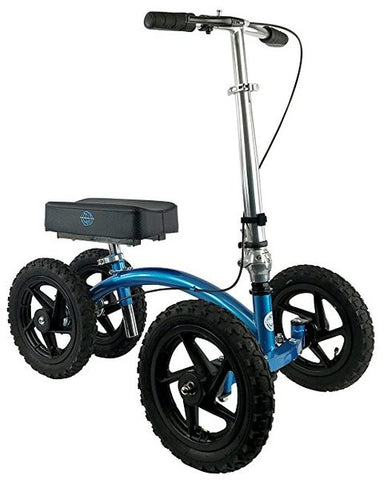 NEW KNEEROVER QUAD ALL TERRAIN KNEE WALKER IN METALLIC BLUE - CSA Medical Supply