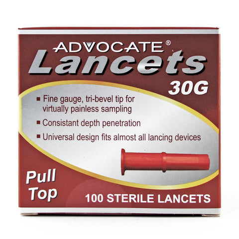 Advocate Pull-Top Lancets 100 (Box) - CSA Medical Supply