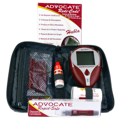 Advocate Redi-Code Plus Speaking Blood Glucose Meter Kit - CSA Medical Supply