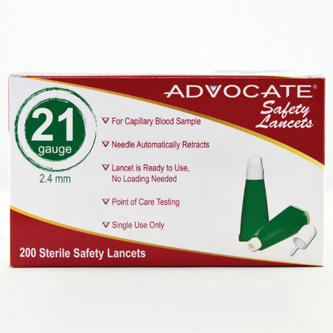 Advocate Safety Lancets 200 box - CSA Medical Supply