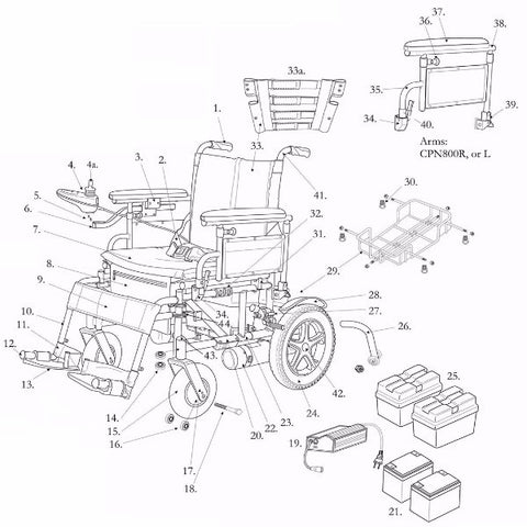 Electric Wheelchair Wiring Diagram
