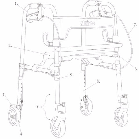 Parts For Clever-Lite Junior Walker