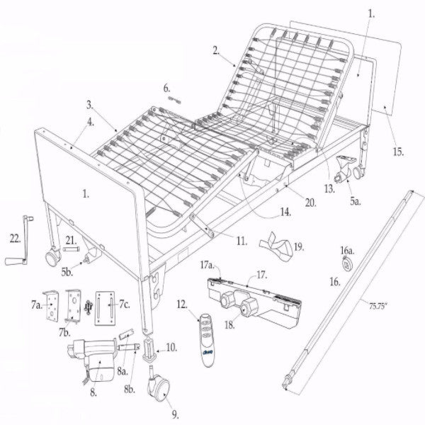 Parts For Delta Ultra Light 1000 Full Electric Bed Csa