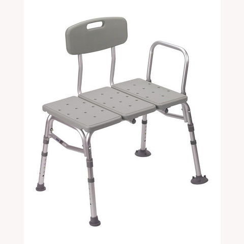 Drive Medical Transfer Bench with Adjustable Backrest