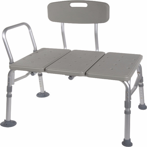 Drive Medical Plastic Tub Transfer Bench With Adjustable