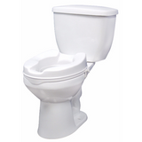 Raised Toilet Seat with Lock by Drive Medical