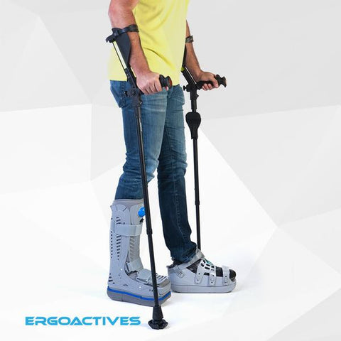 Ergobaum Adult Crutches - CSA Medical Supply