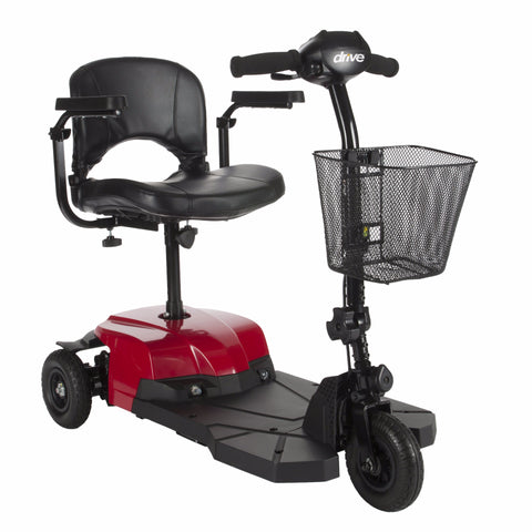 Bobcat X3 Compact Transportable Power Mobility Scooter, 3 Wheel, Red - CSA Medical Supply